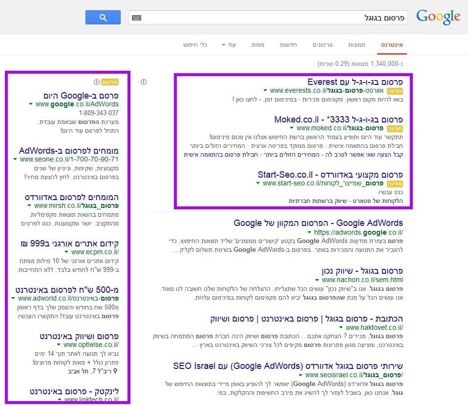פרסום ברשת התוכן של גוגל
