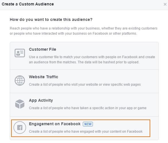 פרסום בפייסבוק לאנשים שהביעו עניין בתוכן אחר שפרסמתם